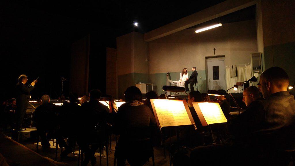 Scena sul palco con La Traviata di Verdi