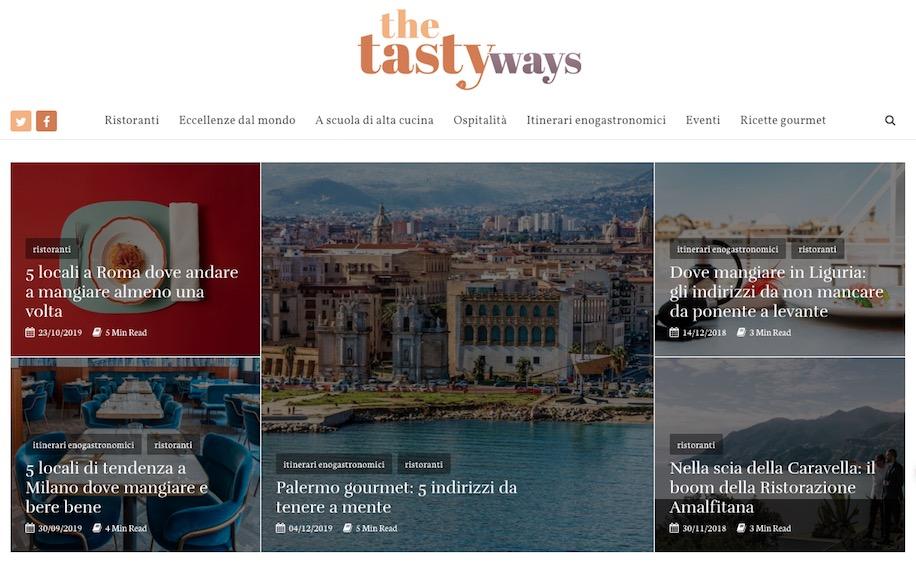 Screenshot header dels ito con logo e primi due articoli